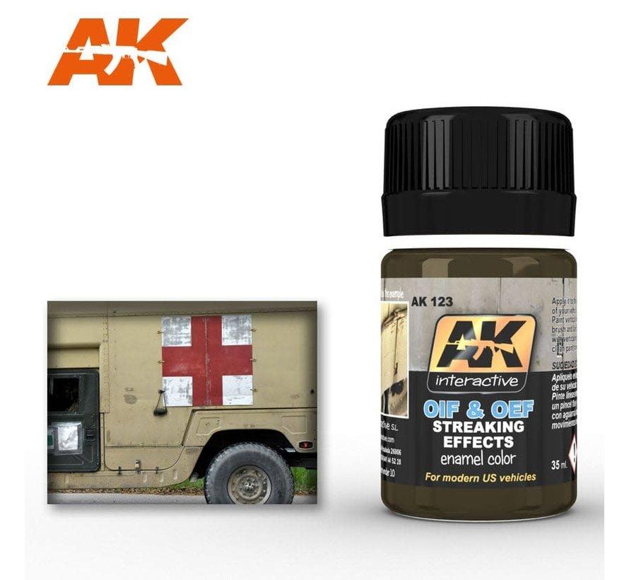 123 OIF & OEF US Modern Vehicles Streaking Effects Enamel Paint 35ml Bottle