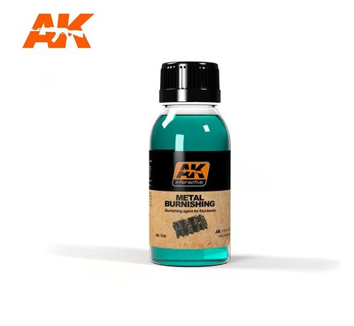 AK INTERACTIVE (AKI) 159 Metal Burnishing Fluid 100ml Bottle