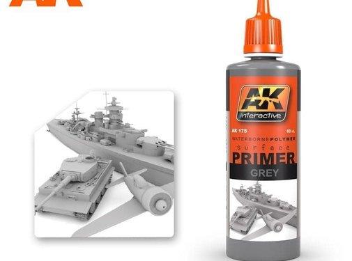 AK INTERACTIVE (AKI) 175 Grey Acrylic Primer 60ml Bottle
