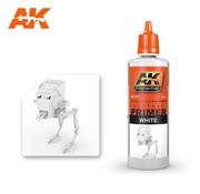 AK INTERACTIVE (AKI) 177 White Acrylic Primer 60ml Bottle
