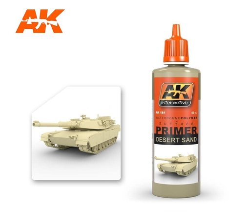 AK INTERACTIVE (AKI) 181 Desert Sand Acrylic Primer 60ml Bottle