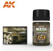 AK INTERACTIVE (AKI) 300 Dark Yellow Wash Enamel Paint 35ml Bottle