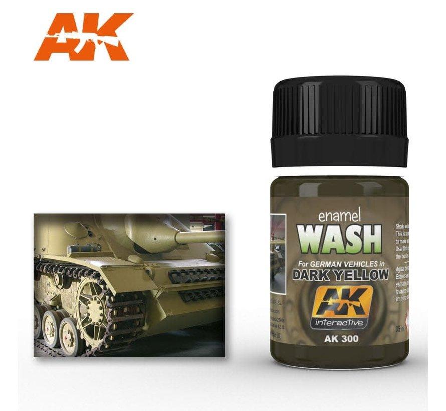 300 Dark Yellow Wash Enamel Paint 35ml Bottle