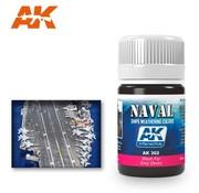 AK INTERACTIVE (AKI) 302 Grey Deck Wash Enamel Paint 35ml Bottle