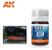 AK INTERACTIVE (AKI) 304 Red Hulls Brown Streaking Grime Enamel Paint 35ml Bottle