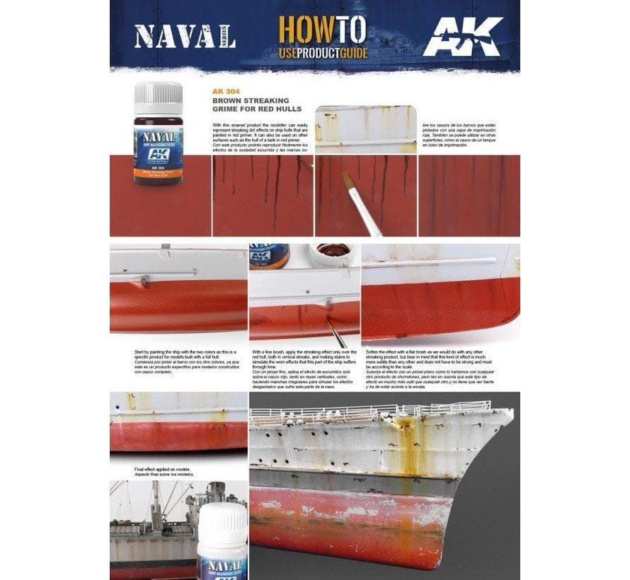304 Red Hulls Brown Streaking Grime Enamel Paint 35ml Bottle