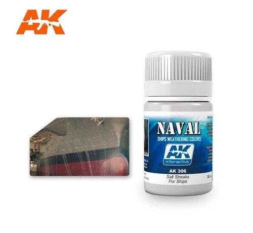 AK INTERACTIVE (AKI) 306 Ships Salt Streaks Enamel Paint 35ml Bottle