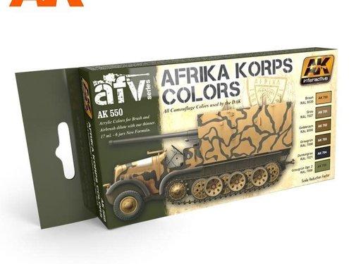 AK INTERACTIVE (AKI) 550 Afrika Korps Camouflage Acrylic Paint Set (6 Colors) 17ml Bottles