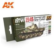 AK INTERACTIVE (AKI) 554 1945 German Late War Acrylic Paint Set (6 Colors) 17ml Bottles