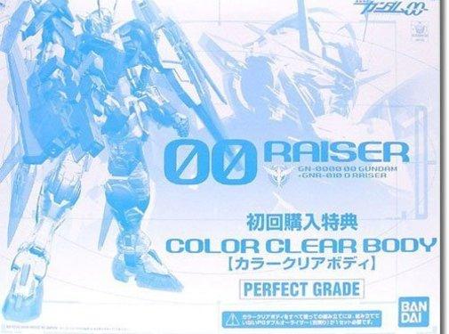 BANDAI MODEL KITS 00 RAISER 1/60 Clear Parts PG