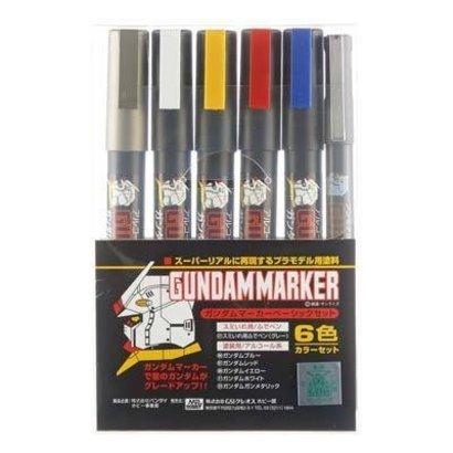 GNZ-Gunze Sangyo GMS105 Gundam Marker Basic Set of 6