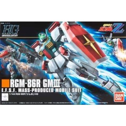 BANDAI MODEL KITS 170396 1/144 HGUC #126 RGM-86R GM III