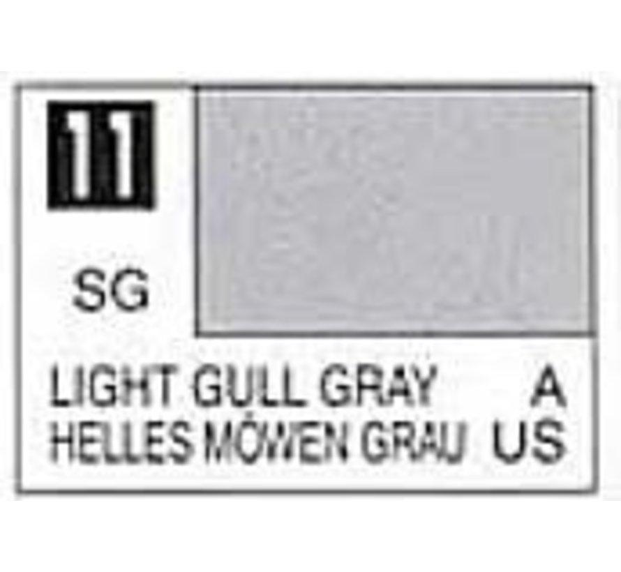 C11 Semi-Gloss Light Gull Gray 10ml , GSI Mr. Color
