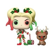 Funko Pop! 50656 DC Holiday Harley Quinn Pop! Vinyl Figure with Helper Buddy