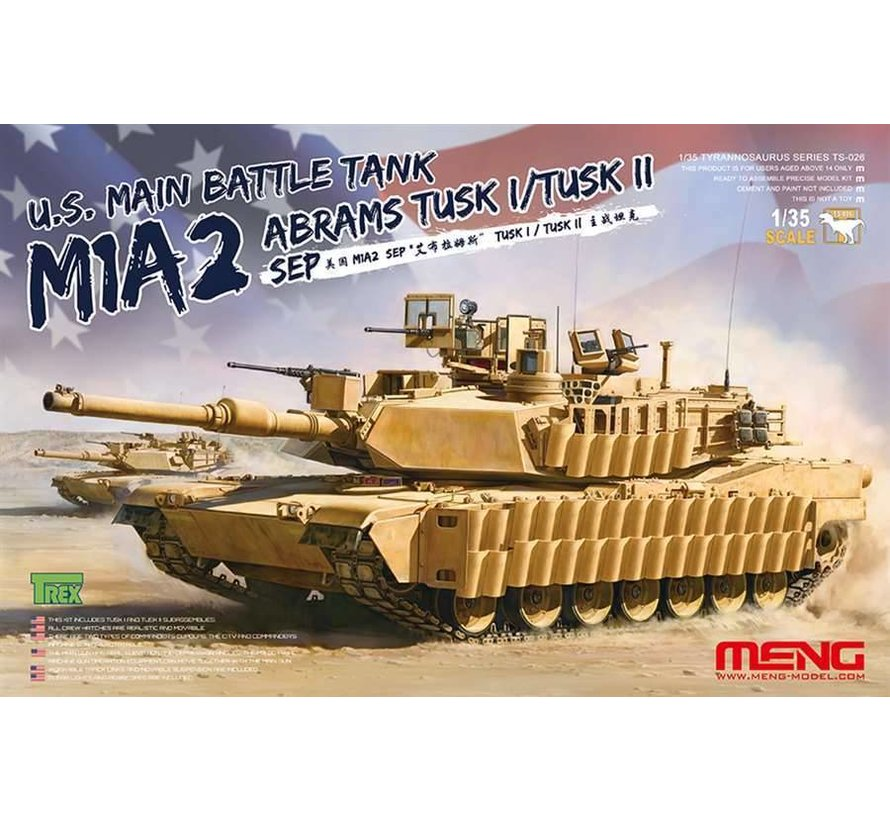 TS026 M1A2 SEP Abrams TUSK I/TUSK II 1/35