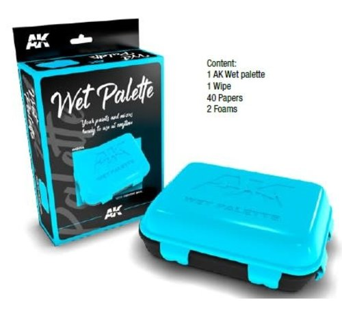 AK INTERACTIVE (AKI) 8064 Wet Palette Container to extend use of Acrylic Paint w/wipe, papers, foams