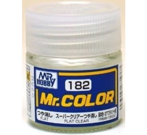 Mr. Hobby GSI - GNZ C182 Flat Clear 10ml Bottle , GSI Mr. Color