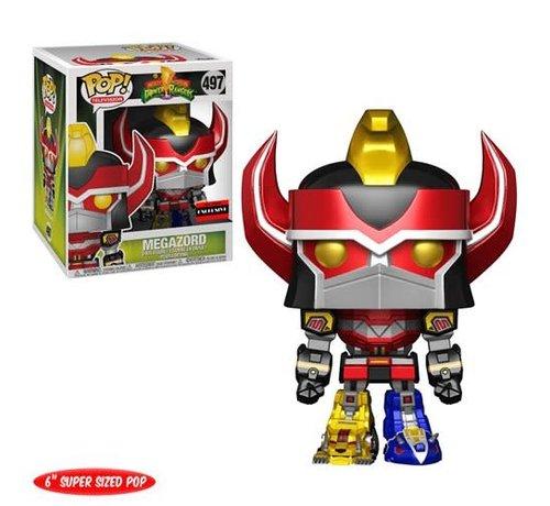 Funko Pop! 26564 Might Morphin Power Rangers Metallic Megazord 6-Inch Super Pop! Vinyl Figure - AAA Anime Exclusive