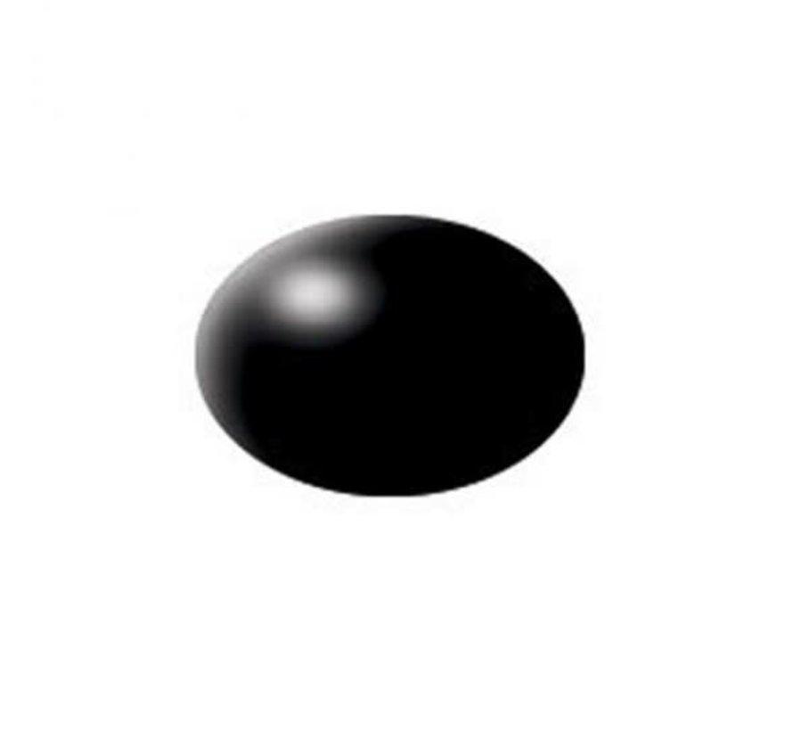 36302 AQUA BLACK SILK