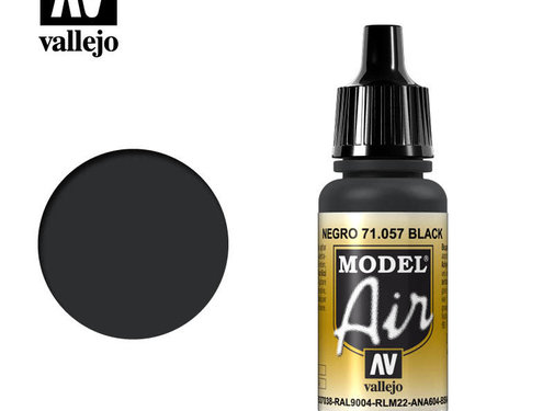 VALLEJO ACRYLIC (VLJ) Black - Model Air