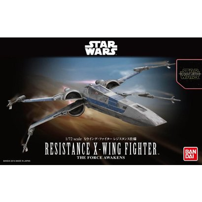 "BANDAI MODEL KITS 202289 Resistance X-Wing Star Fighter ""Star Wars: The Force Awakens"", Bandai Star Wars 1/72 Plastic Model"