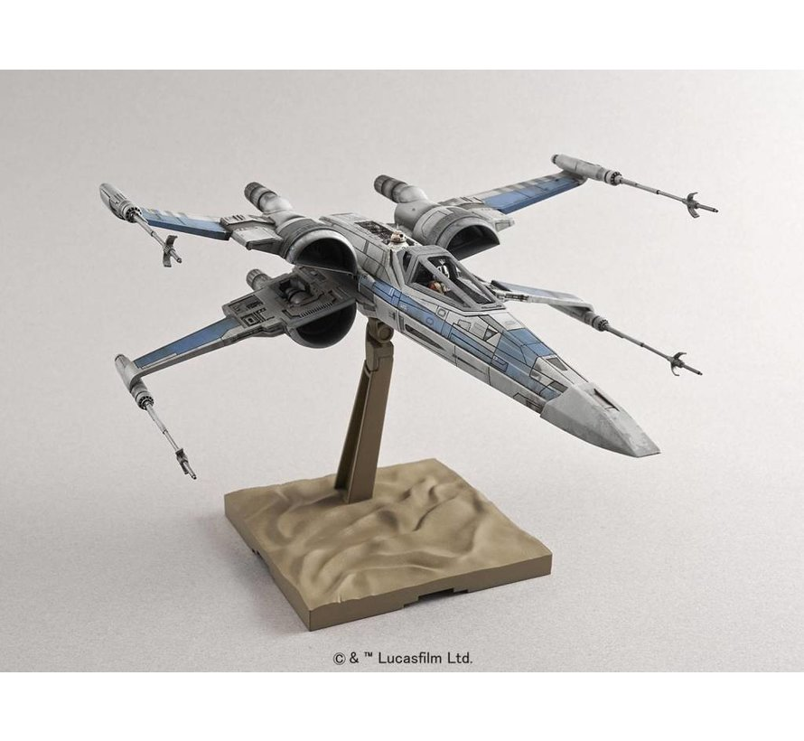 "202289 Resistance X-Wing Star Fighter ""Star Wars: The Force Awakens"", Bandai Star Wars 1/72 Plastic Model"
