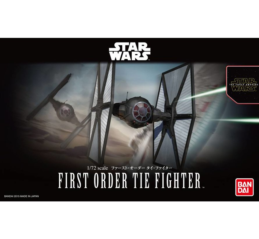 "203218 First Order Tie Fighter ""Star Wars: The Force Awakens"", Bandai Star Wars 1/72 Plastic Model"