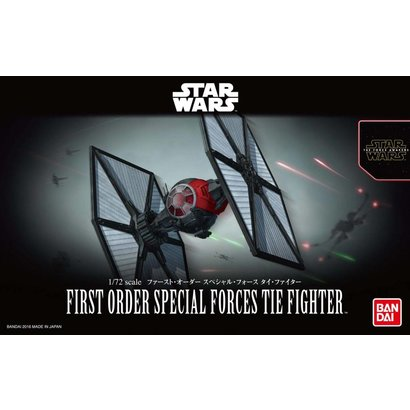 "BANDAI MODEL KITS 203219 First Order Special Forces Tie Fighter ""Star Wars: The Force Awakens"", Bandai Star Wars 1/72 Plastic Model"