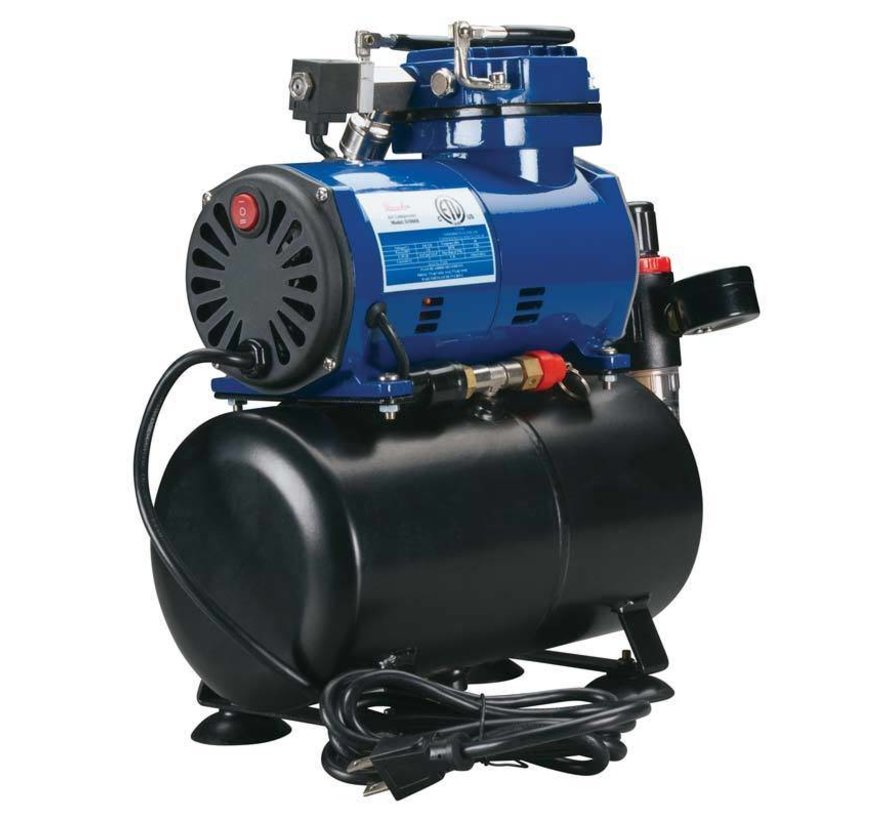 Paasche D3000R Diaphragm Compressor with Tank and Regulator