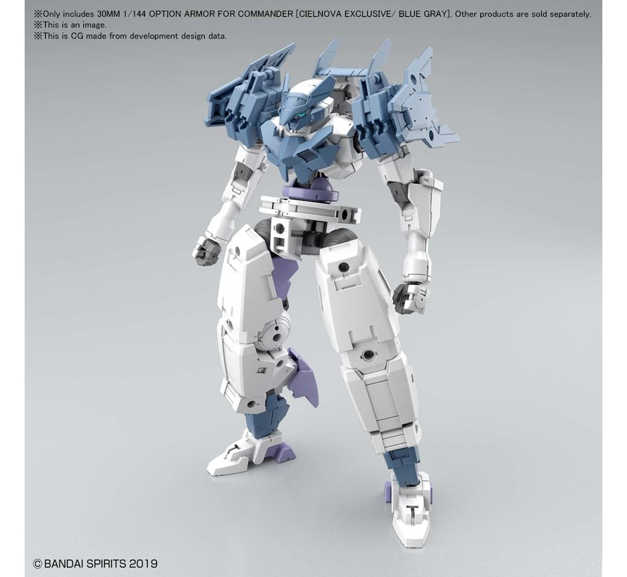 2530636 30MM 1/144 OPTION ARMOR FOR COMMANDER [CIELNOVA EXCLUSIVE/ BLUE GRAY]