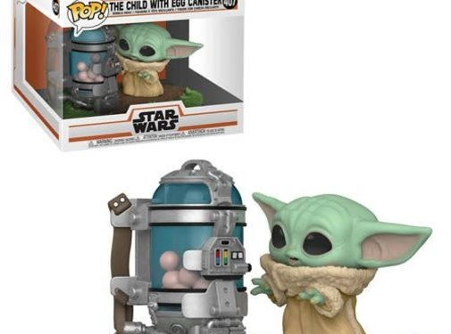 Funko Pop! Star Wars: The Mandalorian The Child with Egg Canister Deluxe Pop
