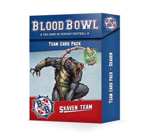Games Workshop -GW 200-41 BLOOD BOWL: SKAVEN TEAM CARD PACK