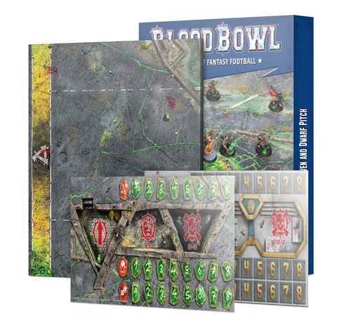 Games Workshop -GW 200-06 BLOOD BOWL: SKAVEN & DWARF PITCH