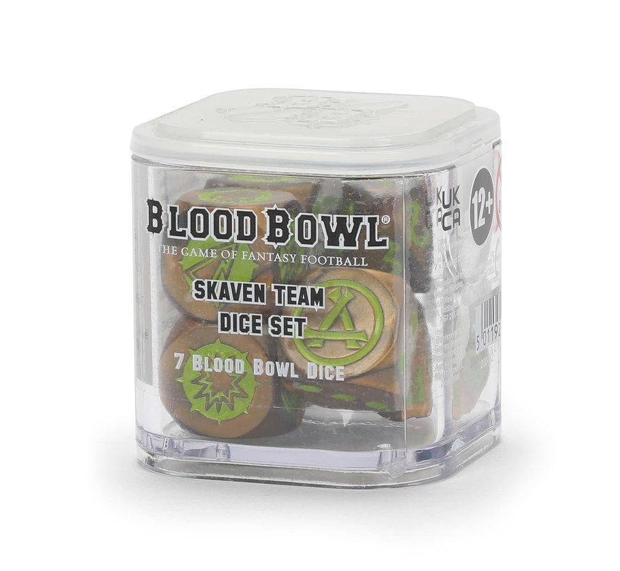 200-12 BLOOD BOWL: SKAVEN TEAM DICE SET