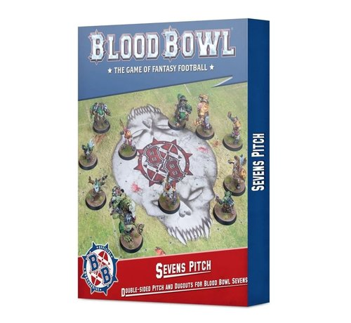Games Workshop -GW 202-17 Sevens Pitch: Double-sided Pitch and Dugouts for Blood Bowl Sevens