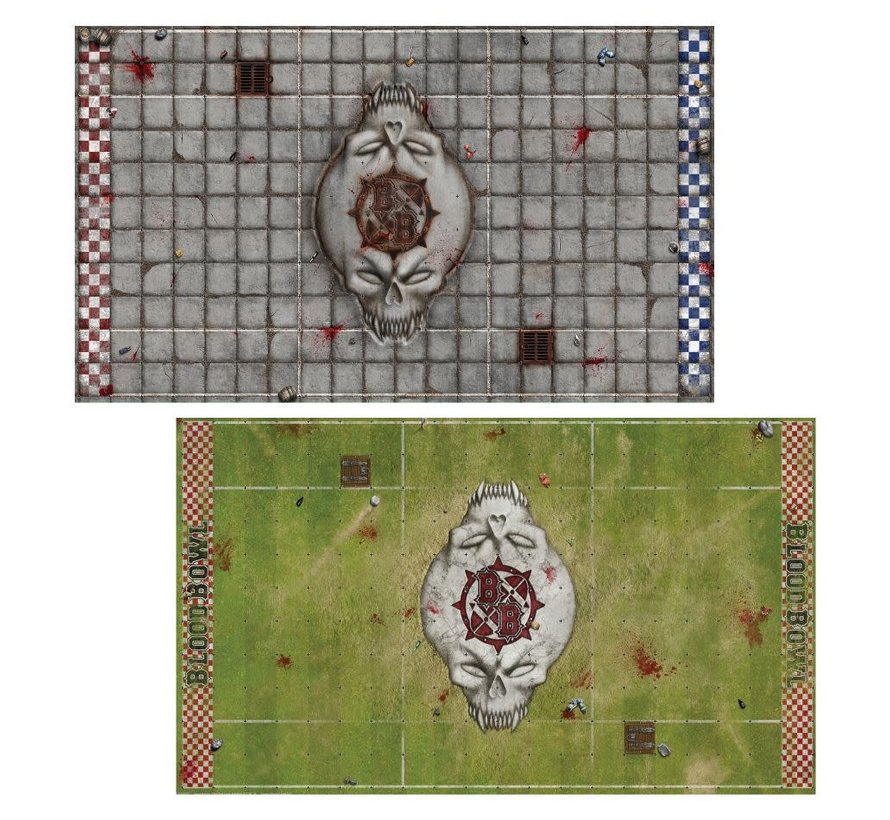 202-17 Sevens Pitch: Double-sided Pitch and Dugouts for Blood Bowl Sevens