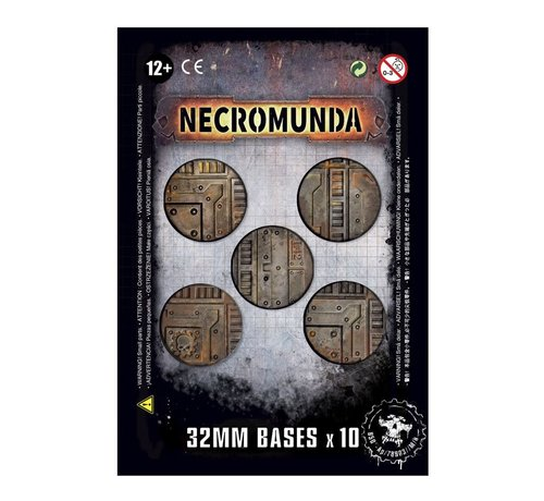 Games Workshop -GW 300-16 NECROMUNDA 32MM BASES