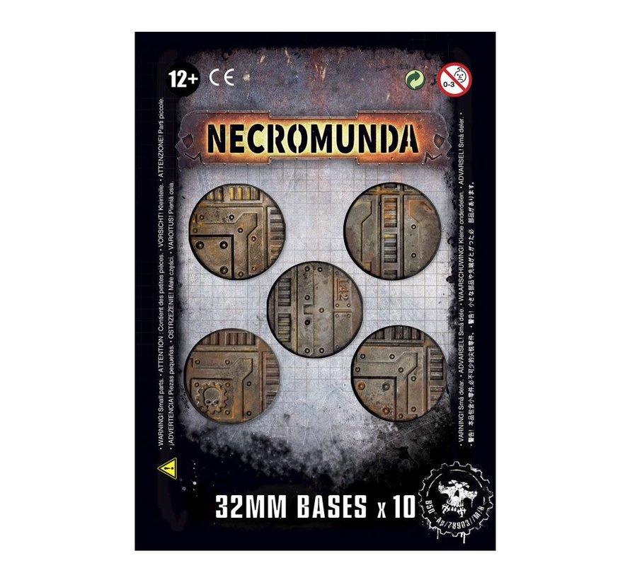 300-16 NECROMUNDA 32MM BASES