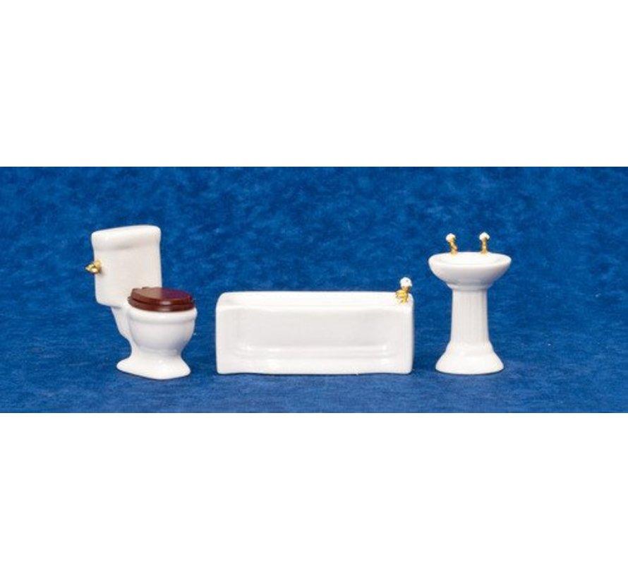 3-PC BATHROOM SET/WHITE
