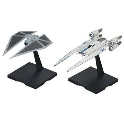 BANDAI MODEL KITS 212184 1/144 U-Wing Fighter and Tie Striker Rogue One