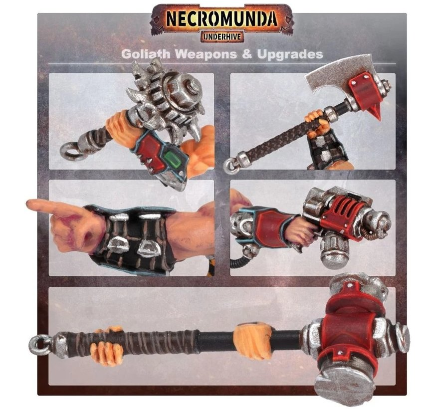 300-75 NECROMUNDA: GOLIATH WEAPONS & UPGRADES