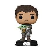 Funko Pop! Star Wars: The Mandalorian Mando Holding Child Pop!
