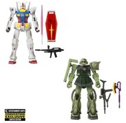 Bandai BA40636W Gundam Infinity RX-78-02 vs. MS-06 Zaku II Epic Battle Action Figure 2-Pack - 2021 Convention Exclusive