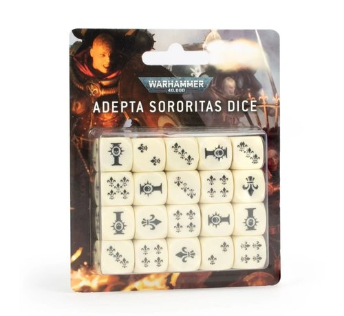 Games Workshop -GW 52-05 WARHAMMER 40000: ADEPTA SORORITAS DICE