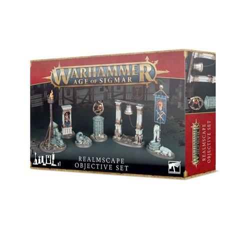 Games Workshop -GW 65-16 AGE OF SIGMAR: REALMSCAPE OBJECTIVE SET