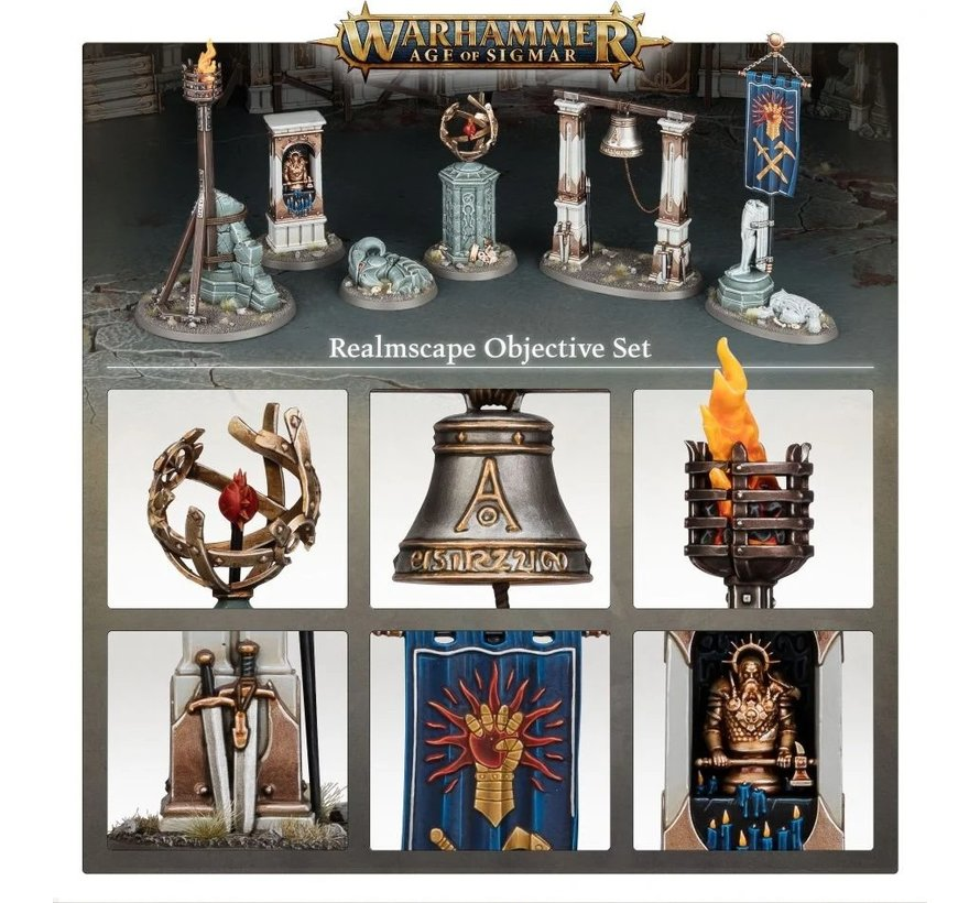 65-16 AGE OF SIGMAR: REALMSCAPE OBJECTIVE SET