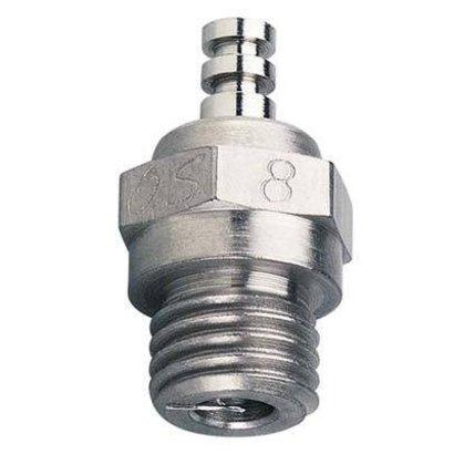 O.S. Engines (OSM) #8 Glow Plug Med Air/Car