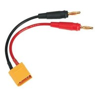 DTX - Duratrax C2226 Adapter Charger Lead Banana Plugs To XT60 Male