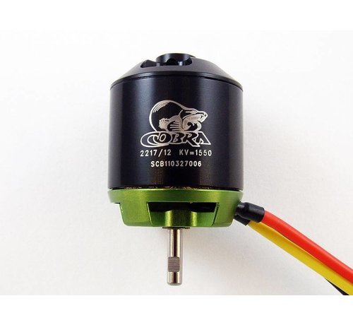 COB Cobra Motors Cobra C-2217/12 Brushless KV=1550 Brushless Airplane Motor