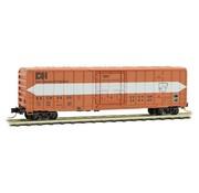 Micro-Trains Line (MTL) 489- 50' Rib-Side Plug-Door Boxcar No Roofwalk - Ready to Run -- East Camden & Highland #2455 (orange, white, Per Diem Series #11)